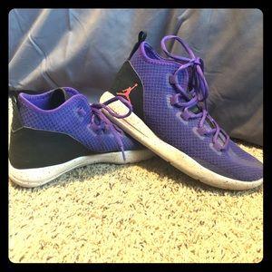 Purple Jordan's Youth size 7.